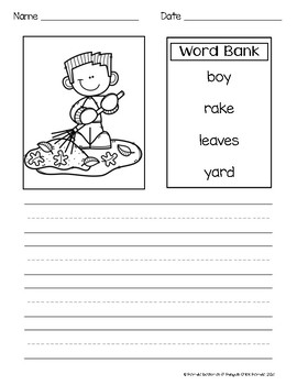 Busy Kids Year-Round Writing Prompts With & Without Word Banks