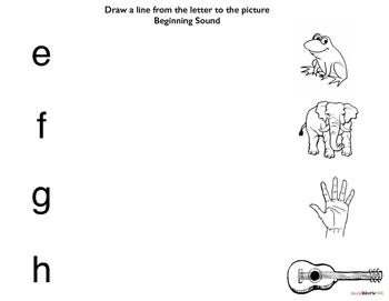 Literacy Preschool Learning Folder