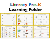 Literacy Preschool-kindergarten Learning Folder