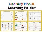 Literacy Preschool-kindergarten Learning Folder