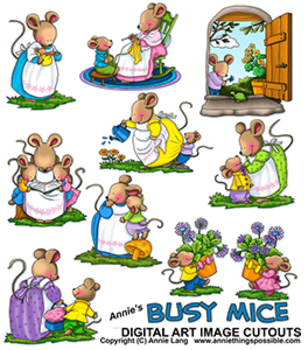 Busy Mice Clipart