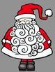 Busy Santa Clip Art