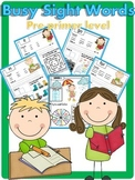 Busy Sight Words Pre-primer level