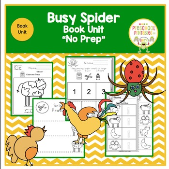 Busy Spider by Eric Carle Book Unit