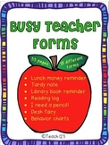 Classroom Management Reminders Charts Notes Forms