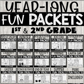 Busy Work Packets Bundle with Summer Activities