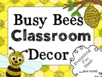 Busy as a Bee Classroom Decor { Editable File Too! } Busy Bees Classroom Theme