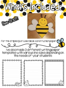 Busy as a Bee: Spring Writing Craftivity