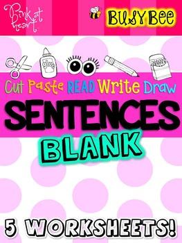 BusyBee Sentence Worksheets BLANK