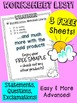 BusyBee Sentence Worksheets Weather FREE SAMPLE