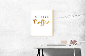 But First, Coffee Print // Classroom Decor // Teacher's Desk // Teacher Lounge