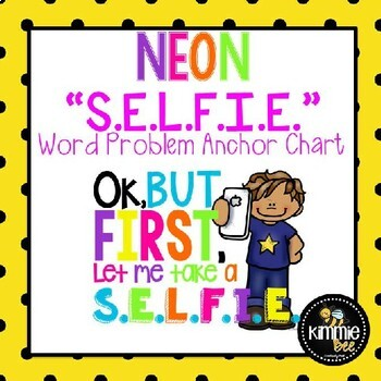 But First, Let Me Take a Selfie Math Anchor Chart #newdeal