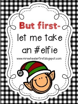 First Grade Elf in the Classroom Activities