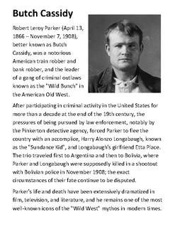 Butch Cassidy Handout