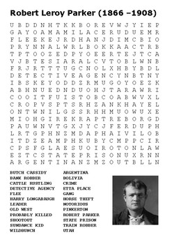 Butch Cassidy Word Search