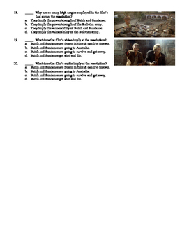 Butch Cassidy and the Sundance Kid Film (1969) 20-Question Multiple Choice Quiz