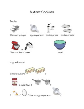 Butter Cookie Picture Recipe