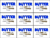 "Butter Finger Testing Motivation Treat Tag (""Butter"" do your best today)"