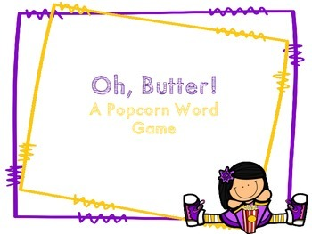 Butter! Popcorn Word Game