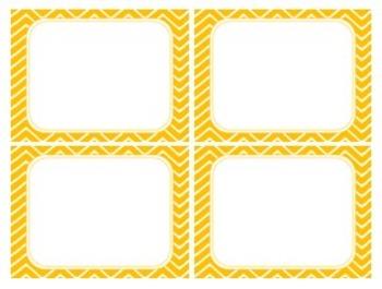 Butter Squash Orange Chevron Task Card/Scoot Card Templates