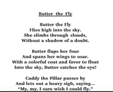 Butter The Fly Poem-Original and Live In Letters Tier 3
