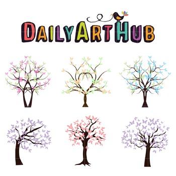 Butter Trees Art Clip Art - Great for Art Class Projects!