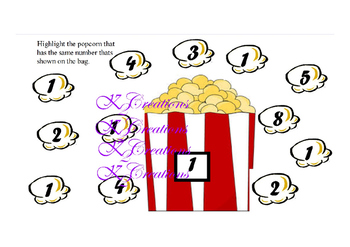 Butter it up Popcorn Numbers !
