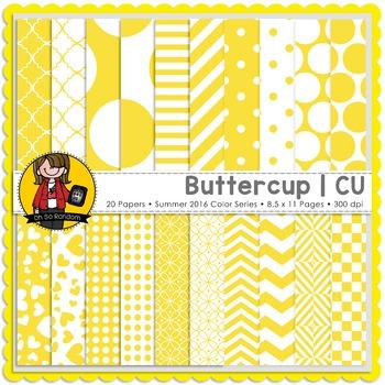 Buttercup Digital Papers {CU}