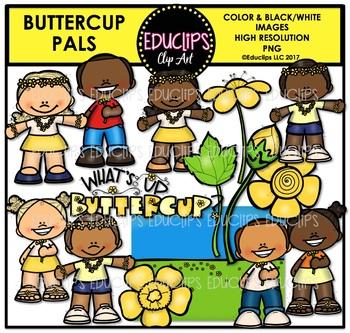 Buttercup Pals Clip Art Bundle {Educlips Clipart}
