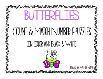 Butterfiles Count and Match Number Puzzles