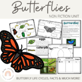 Butterflies & Caterpillar non-fiction unit Living Things | Distance Learning