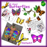 Butterfly Paper Crafts, Activities, and Clip art Collection