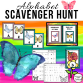Butterflies Alphabet Scavenger Hunt: Upper and Lowercase Letters