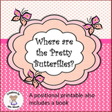 Positional & Color Words - Where are the Pretty Butterflies?