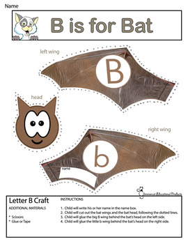 Butterflies, Bats, Buses, and Bears!  Crafts for Letter B