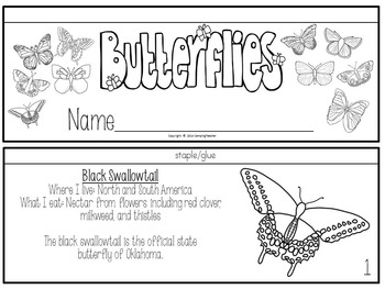 Butterfly Research Set with Study Activity, Matching Cards, Book, and Posters