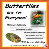 BUTTERFLY ACTIVITIES ... Life Cycle, Observation, Facts ... Charts, Photographs