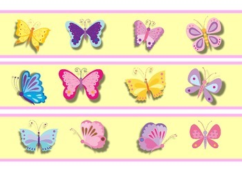 Butterflies Bulletin Board Border