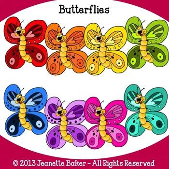 Butterflies Clip Art by Jeanette Baker