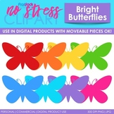 Butterflies Clip Art Bright Set (Digital Use Ok!)
