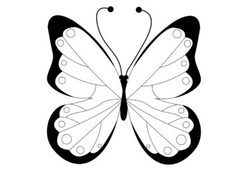 Butterflies Clip Art Bundle x 10 | 10 Color | 10 B & W