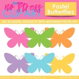 Butterflies Clip Art Pastel Set (Digital Use Ok!)