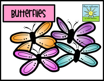 Butterfly Clip Art *Patch of Sunshine*