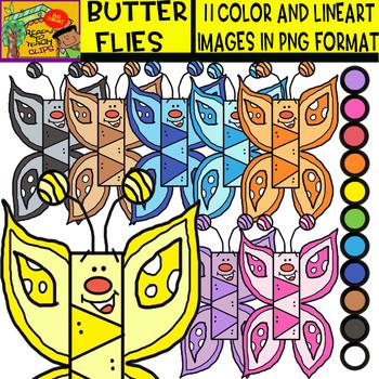 Butterflies - Cliparts Set - 11 Items