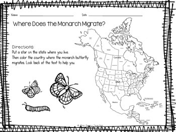 Butterflies! Close Read, Mini Book, & Printables about Monarch Life Cycle