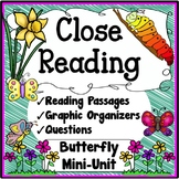 Butterflies Close Reading Passages, Questions & Graphic Or
