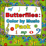 Butterflies Color by Music Pack