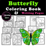Butterflies - Coloring & Writing Pages