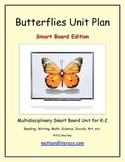 """""""Butterflies"""" Common Core Aligned Math and Literacy Unit - SMARTBOARD EDITION"""