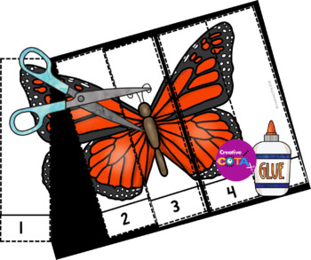 Butterflies Differentiated Worksheets and Activities